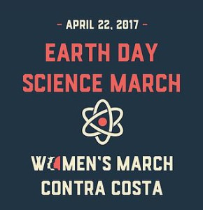 earth day science march logo